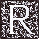 William Morris Inspired Letter R# 2  by Donnahuntriss