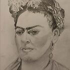 Frida Kahlo Contemplating by bohemianartist