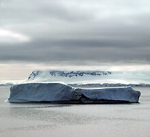 Iceberg off Danco Island , Antarctica by geophotographic