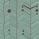 Doodle Lines Pattern by Anastasiia Kucherenko