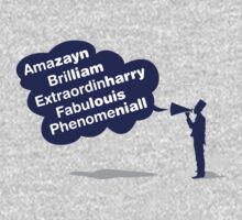 One Direction - Amazayn, Brilliam, Extraordinharry, Fabulouis and Phenomeniall tshirt by Adriana Owens