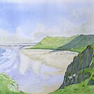 Rhosilli Bay , Gower (1) by HurstPainters