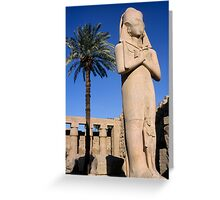 Majestic statue of Ramses II at Karnak Temple, Luxor, Egypt. Greeting Card