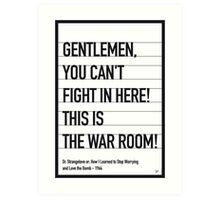 My Dr Strangelove Movie Quote poster Art Print