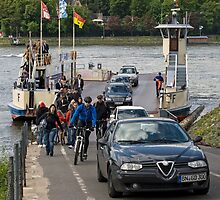 Rhine Ferry, Niederdollendorf-Bonn, NRW, Germany. by David A. L. Davies