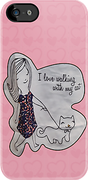 I love walking with my cat by Maria  Gonzalez