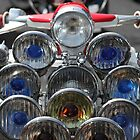 Union Jack helmet and Lambretta lights. by Phil Bower
