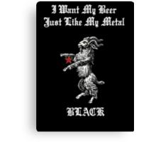 Black Metal Beer Canvas Print