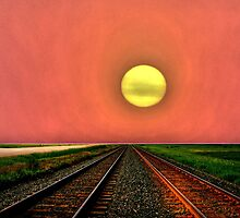 Dust Bowl Sunset by Larry Trupp