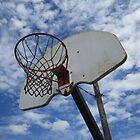 Basketball Hoop against Blue Sky by CuteNComfy