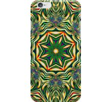 Psychedelic Kaleidoscope 1 Green Mandala abstract iPhone & iPod Cover iPhone Case/Skin