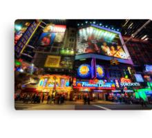 Stunning Lights Of 42nd Street  Canvas Print