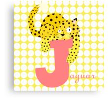 j for jaguar Canvas Print