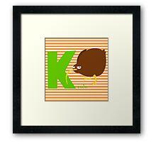 k for kiwi Framed Print