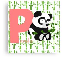 p for panda Canvas Print