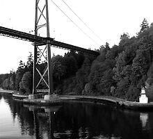 Lions Gate Bridge-Stanley Park by Ian Phares