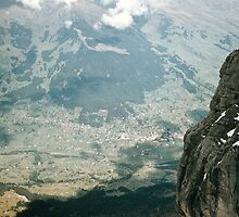 Grindelwald from inside Eiger Mouintain at 9400 level 1957 09220027  by Fred Mitchell