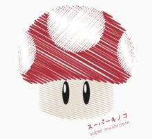 super mushroom -scribble- Kids Clothes