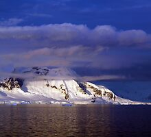 Sunset over Lemaire Channel,  Antarctica by geophotographic