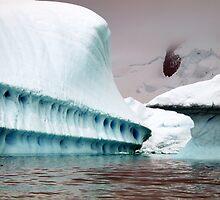 Sculptural iceberg , Antarctica by geophotographic