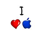I Love Apple White by Hiragraphic