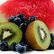 Watermelon, Kiwi Fruit with Blueberries by LifeisDelicious