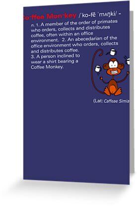 Coffee Monkey - Definition by fridley