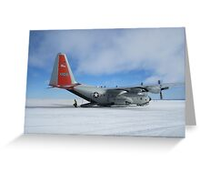 C130 Hercules on Skis Antarctica Greeting Card