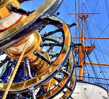 The Helm HMS Warrior - HDR by Colin J Williams Photography
