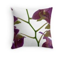 Green Stem Throw Pillow