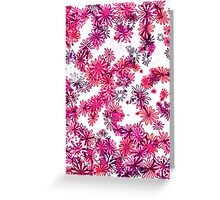 retro flower power pattern Greeting Card