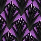 Purple & Black~ iPhone Case by Greta  McLaughlin