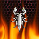 Chrome scorpion and fire Design 5 by Skatersollie
