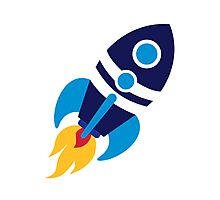 Rocket space Photographic Print