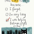 A belated card with the perfect excuse.  by twisteddoodles