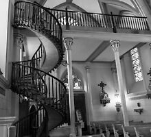 Loretto Chapel Staircase 1 Santa Fe NM by GJKImages