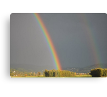 Without The Rain There Would Be No Rainbow Canvas Print