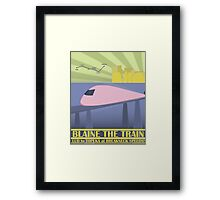 Travel Blaine Rail Framed Print