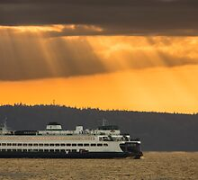 Sun Rays over Puget Sound by Jim Stiles