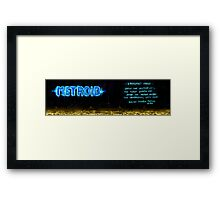 Metroid Metal: NES Theme Framed Print