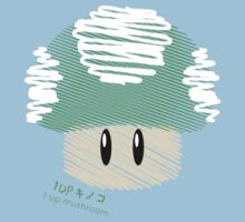 1-UP mushroom -scribble- Kids Clothes