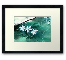 White Flowers 2 Framed Print