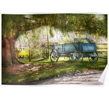 Country - The old wagon out back  Poster