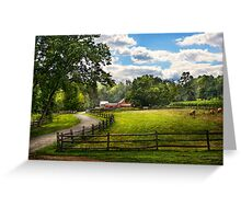 Country - The pasture  Greeting Card