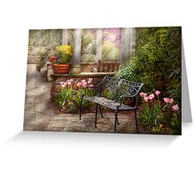 Spring - Bench - A place to retire  Greeting Card
