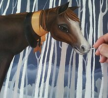 Horse painting (in progress) by Jodi  Magi