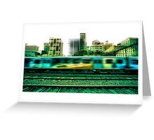 The 16:17 Rush - Melbourne Style Greeting Card