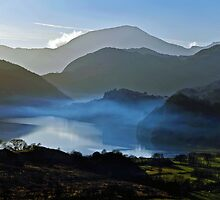 Mystified Vision at sunset Snowdon. by vonniepyn