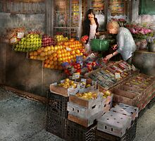 Storefront - Hoboken, NJ - Picking out fresh fruit by Mike  Savad