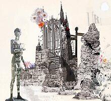 Abbey Gardens Illustration - Bury St Edmunds by Daniii